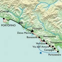 Les Cinq Terres En Italie Carte by Randonn 233 E Cinque Terre