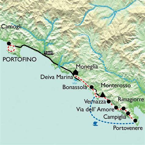 infos sur carte italie cinque terre arts et voyages