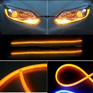 12v Motorcycle Auto Flexible Guide Led Strip Turn Signal