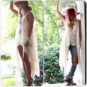 Gypsy Tunic Dress, Bohemian Magnolia lace from True Rebel