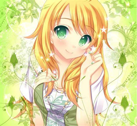 animegirl yellowhair cute anime pinterest anime