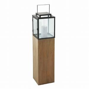 Windlicht Laterne Holz : windlicht industrial aus holz und metall h 114 cm maisons du monde ~ Bigdaddyawards.com Haus und Dekorationen