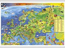 Europakarte für die Kleinen im Kinderpostershop und