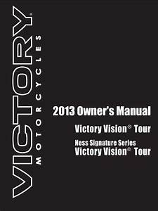 Victory Vision Tour 2013 Owner U0026 39 S Manual