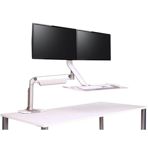Humanscale Dual Monitor Standing Desk by Humanscale Quickstand Lite Dual Monitor Sit Stand Workstation