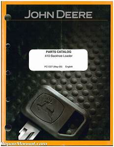 John Deere 410 Loader Backhoe Parts Manual