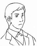 Coloring Man Pages Handsome Business Male Drawing Colouring Sad Printable Print Getcolorings Really Getdrawings Easy Tocolor sketch template