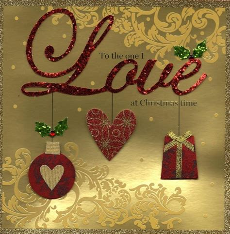To The One I Love Special Luxury Handmade Christmas Card