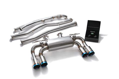bmf87 qs38b armytrix stainless steel valvetronic catback exhaust system blue coated tips
