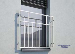 franzosischer balkon md04ap pulverbeschichtet weiss ral9016 With französischer balkon mit stroh sonnenschirm günstig