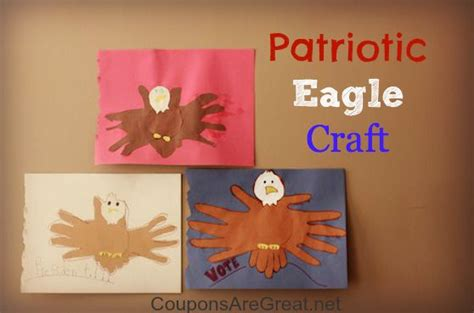 patriotic eagle craft with handprints great for memorial 565 | bbc40fa4f96cf10346fbb832476247c8