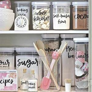 Best 25 storage containers ideas on pinterest food for Best brand of paint for kitchen cabinets with clear stickers vistaprint