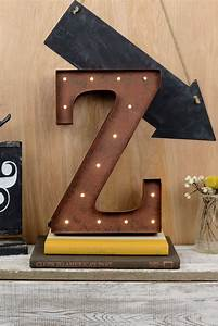 marquee letters z 12in battery operated 17 warm white led With marquee letter z