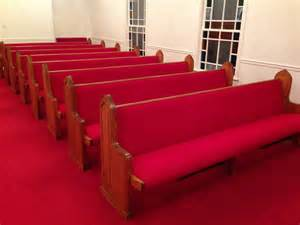 church pew reupholstery