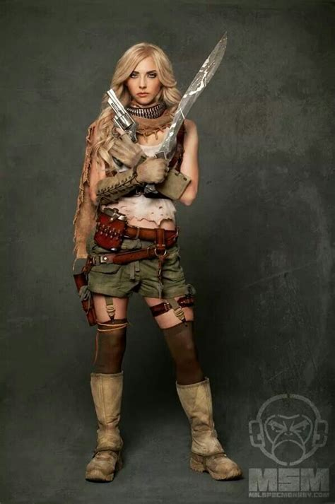 apocalypse costume apocalyptic zombie hunter costumes alex april falcon guns