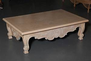 large white washed oak baroque revival coffee table for With oak coffee tables for sale