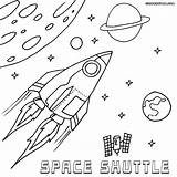 Space Coloring Shuttle Pages Rocket Print Spaceshuttle Coloringway sketch template