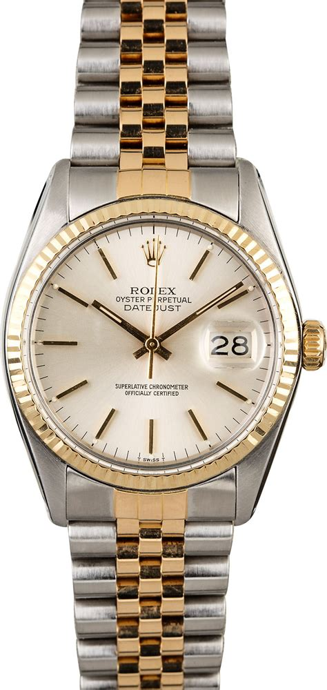Used Rolex Datejust 16013 Silver Dial