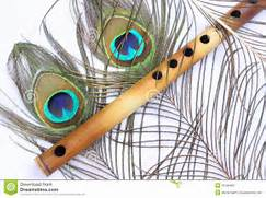 Peacock Feather With Indian Flute Stock Photography - Image  19183482  Indian Flute Clipart
