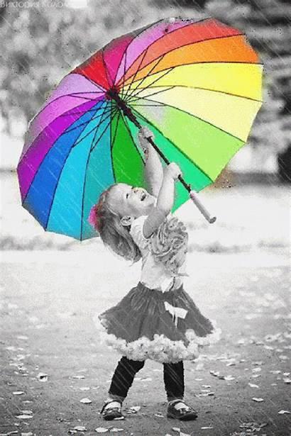 Toddler Rain Umbrella Splash Dancing