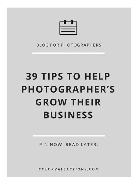 tips   photographers grow  business