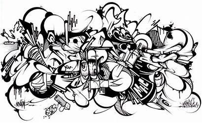 Graffiti Coloring Pages Adults Sans Characters Printable