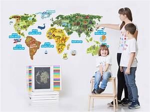 Wandtattoo Weltkarte Kinder : weltkarte kinder wandtattoo kinderzimmer kontinente etsy ~ Eleganceandgraceweddings.com Haus und Dekorationen