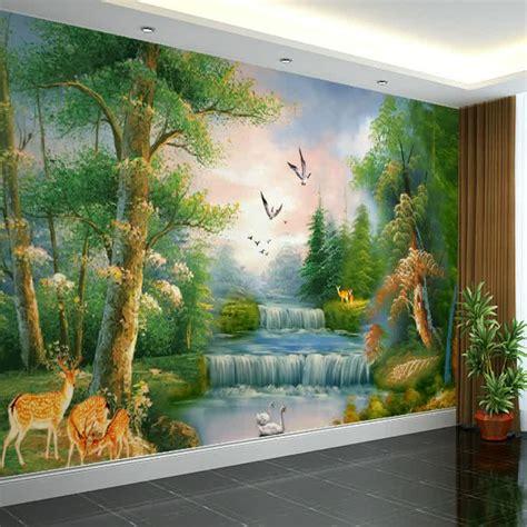 lukisan dinding ruang tamu desainrumahidcom