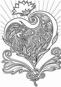 Dessin Saint Valentin : coloriage coeur saint valentin saint coloriage de coeur ~ Melissatoandfro.com Idées de Décoration