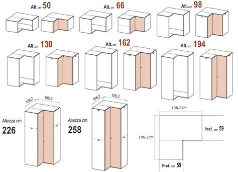 le misure degli armadi dielle