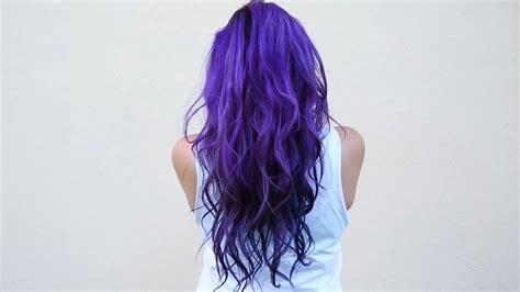 How I Dye My Hair Purple And Blue ♥ Diy Youtube