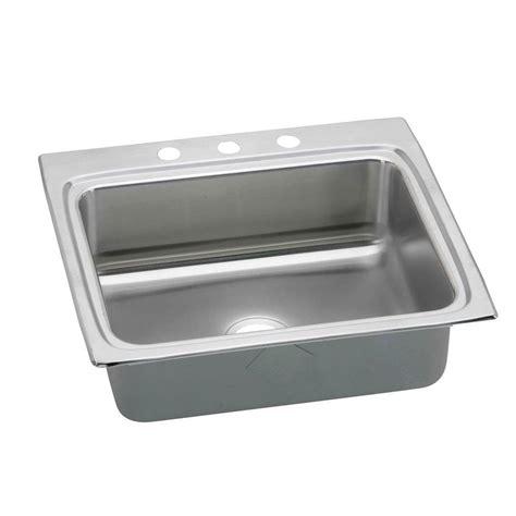 home depot kitchen sinks top mount elkay dayton top mount stainless steel 25 in 3 8405
