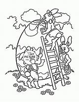 Easter Coloring Pages Bunny Egg Printables Colouring Wuppsy Print Printable Eggs Spring Bonny Fun Children sketch template