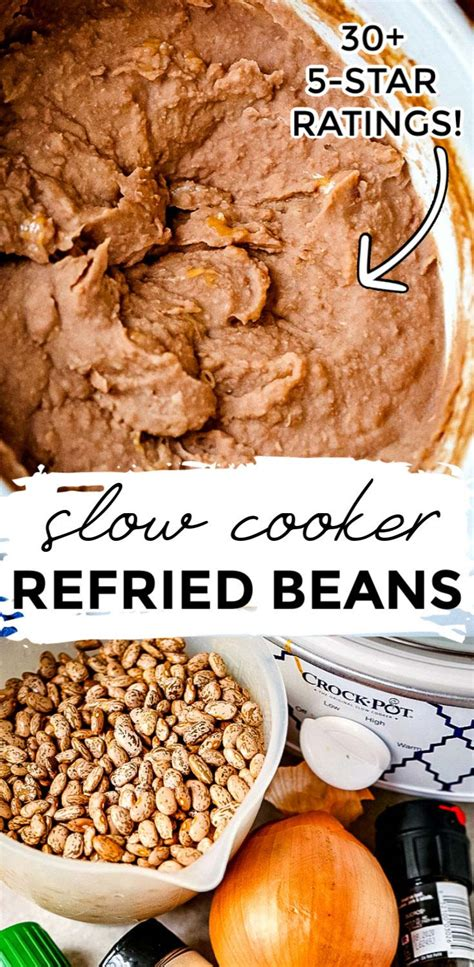 restaurant style refried beans recipe food