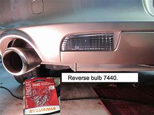 How To Replace The Rear Brake  Signal  And Reverse Bulbs