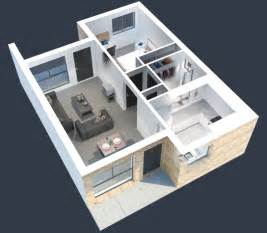 L Shaped Kitchen Design With Island 50 One 1 Bedroom Apartment House Plans Architecture Design
