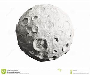 Moon And Craters. Asteroid. Royalty Free Stock Photography ...