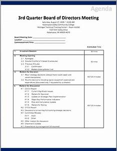 board of directors meeting agenda template printable With corporate board meeting minutes template