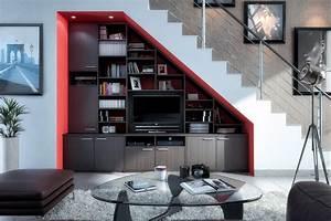 Bibliothèque Escalier Ikea : placard sous escalier am nagement et rangement sous escalier sur mesure ~ Teatrodelosmanantiales.com Idées de Décoration