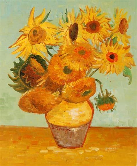 i fiori di gogh quadro vaso di girasoli di gogh falso d autore