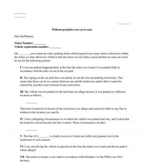 penalty fare appeal letter template prahu