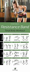 Total Body Exercise Chart Resistance Band Total Body Workout Posted By