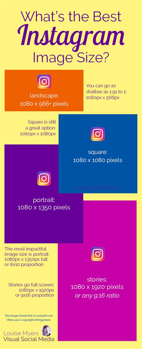 What's The Best Instagram Image Size 2018? Infographic