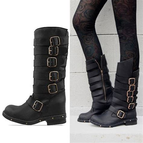 womens boots vintage style 2013 fashion jeffrey cbell cowhide vintage buckle motorcycle boots genuine leather