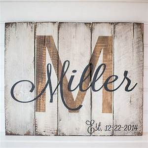 Last name with est date rustic wooden sign made from