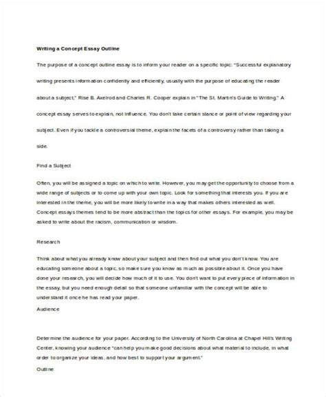 concept essay examples samples    examples