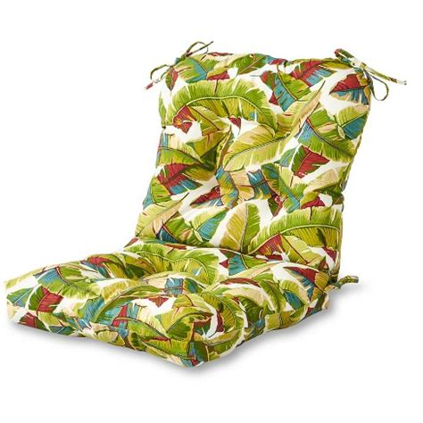 outdoor seatback chair cushion palm multi greendale