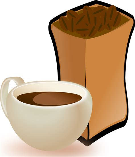 Download 527 coffee cup cliparts for free. OnlineLabels Clip Art - Cup Of Coffee With Sack Of Coffee Beans