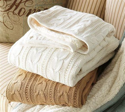 Pottery Barn Cable Knit Throw by Cozy Cable Knit Throw From Pottery Barn Home Sweet Home