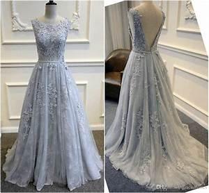 backless blue lace wedding dresses a line scoop neckline With blue lace wedding dress